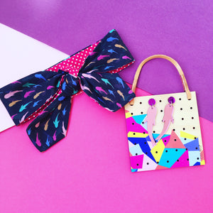 Mini Dont Be Koi Print Hairtie & earrings set