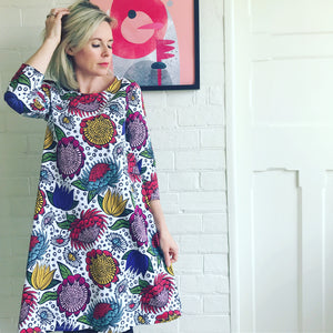 Once & Floral Multi Colour Swing Dress