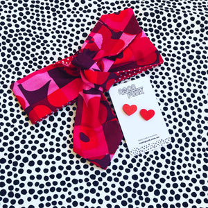 Be Mine Hair Tie and Earring Set