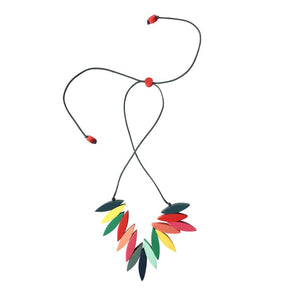 RAINBOW Carousel Fringe Necklace