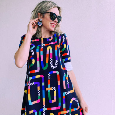Gone Loopy Swing Dress