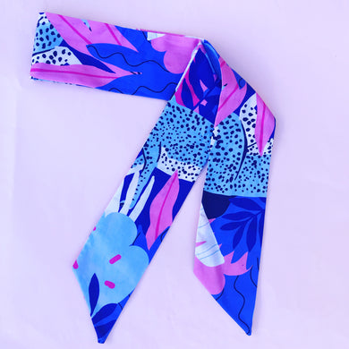 Wild Thing Sash Tie Blue