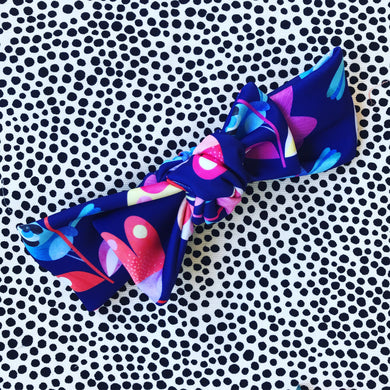 Rainbow Wren Bow Headband