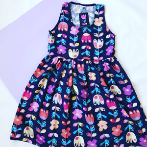Rainbow Wren LONGER LENGTH Sundress