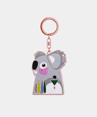 Koala Keychain - rose gold metal