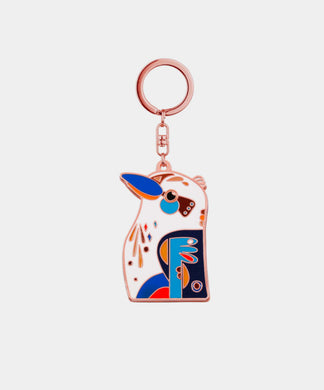 Kookaburra Keychain - rose gold metal