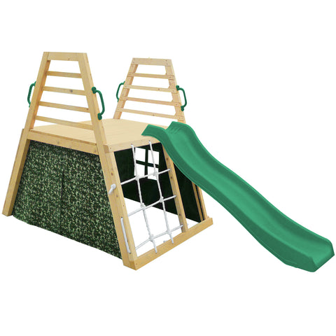 Cooper Climbing Frame & 1.8m Green Slide Set - Cubby and Kids