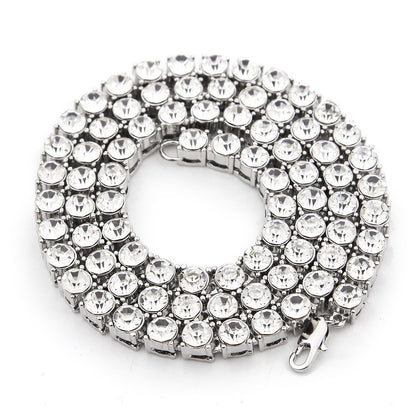 Silver Zirconia Diamonds 5mm Rounded Chain