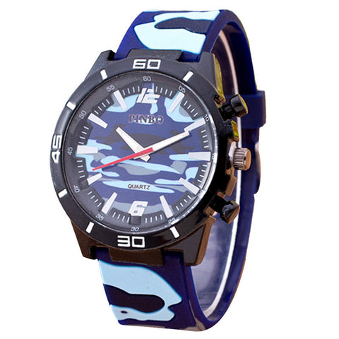 New! Sporty Camo Men Watch