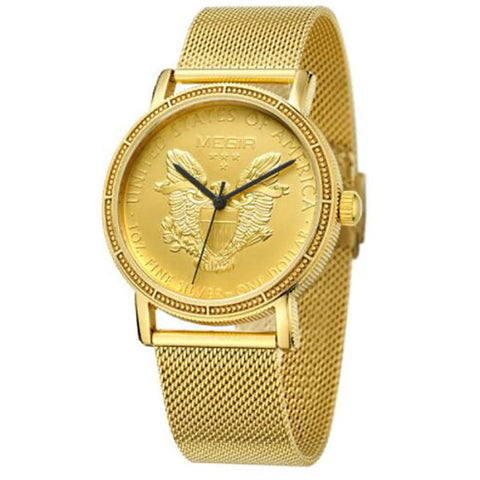 Urban Clock Gold Watch