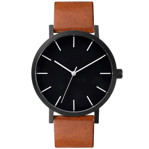 Elegant Leather Men Watch