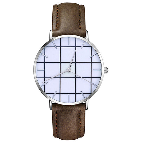 Classic Casual Leather Unisex Watches