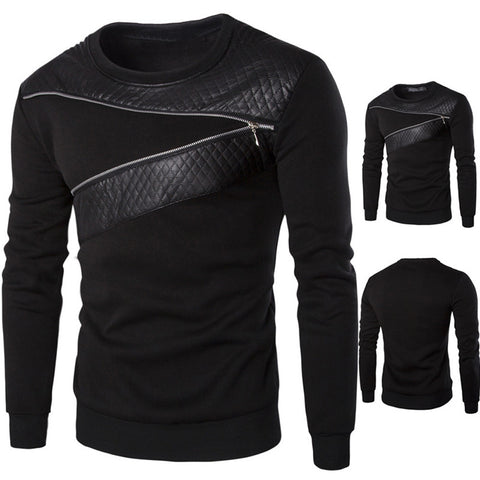 ALX Leather Men Outwear Sweater