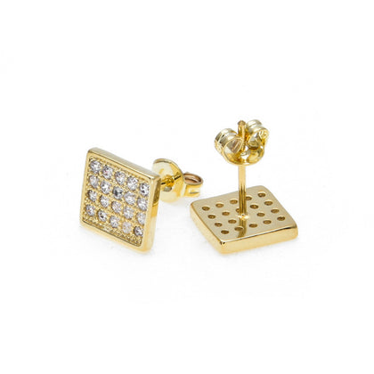 Gold Rap Zircon Male Earrings