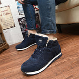 Navy Blue & Black Elegant Casual Men Boots