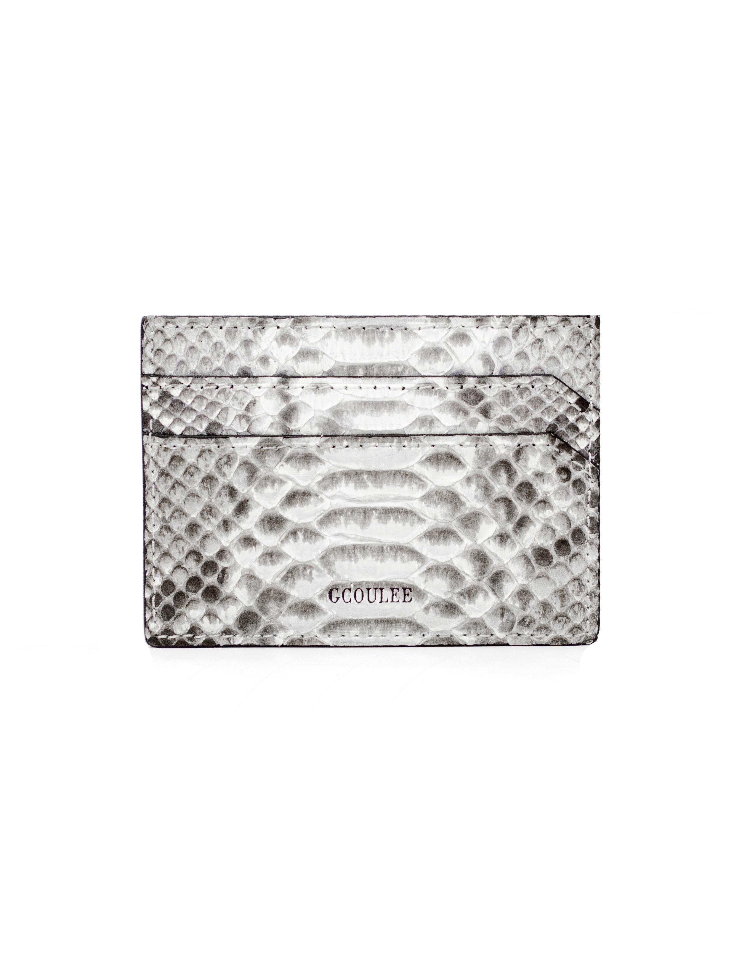 Card case natural python - gcoulee
