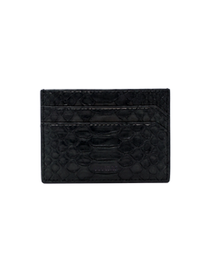 Card case in black python
