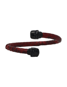 Bangle bracelet notorious skull - Signature leather - gcoulee