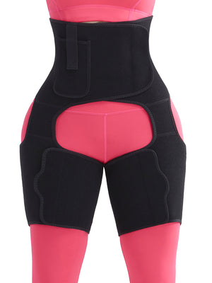 Single Compression Belt with Single Leg Support Waist Trainer Built In Pocket
