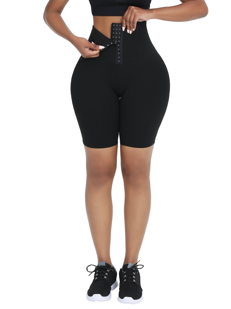 2-In-1 Waist Trainer Shorts Mid-Thigh