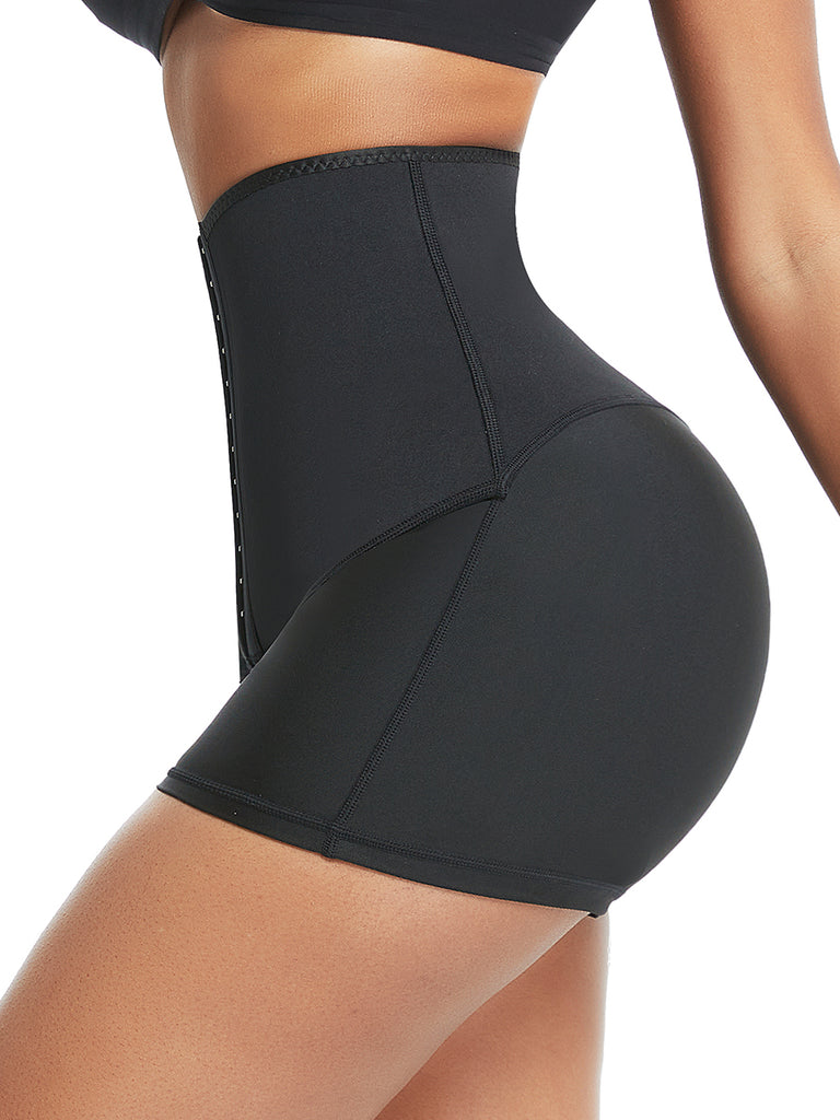 Neoprene Sweat Shorts Hook And Eye Closure Abdominal Control
