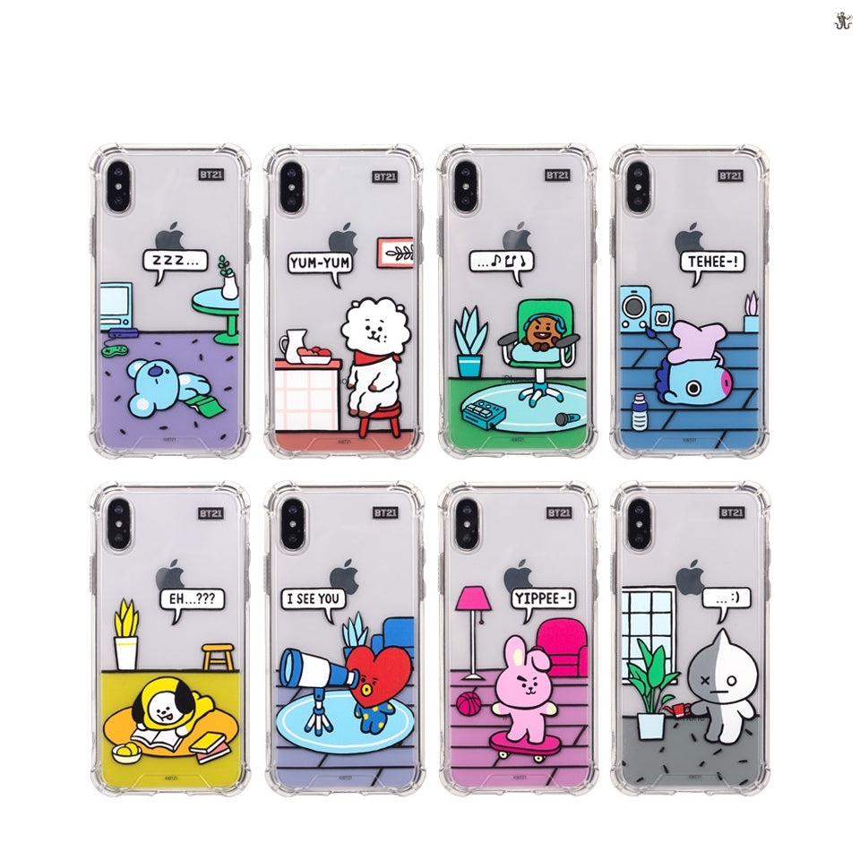 competitive price 8739a 1c043 [LINE X BT21] Roomies Clear Slim Bumper Case