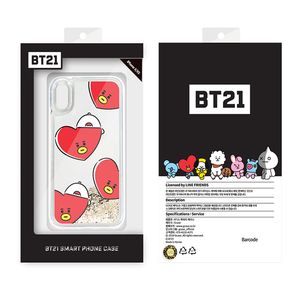 [LINE X BT21] Glitter Hang Out Pattern Case for iPhone