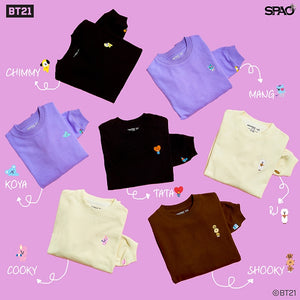[SPAO X BT21]  Loose Fit Long Sleeve Sweatshirt