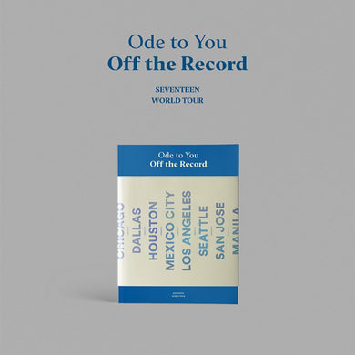 SEVENTEEN - Ode to You Off the Record World Tour Photobook 216p