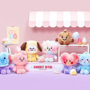 [LINE X BT21] Baby Cotton Candy Standing Doll