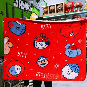 [LINE X BT21] Limited Christmas Blanket