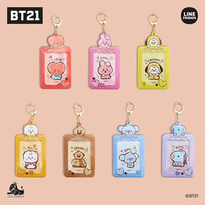 [BT21 JAPAN] Card/Photocard Case Keyring + Sticker