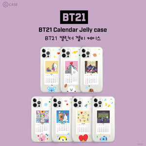 [LINE X BT21] Calendar Jelly Case (for iPhone)