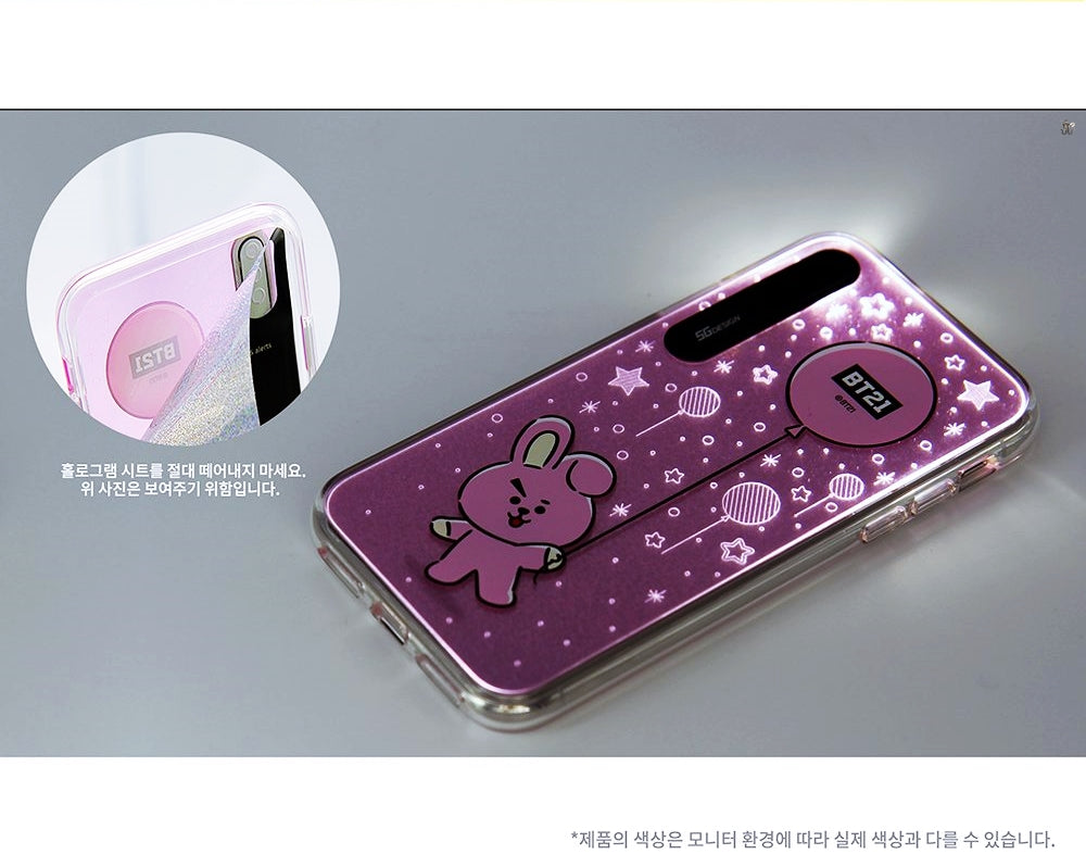 huge discount 06ac4 24587 [LINE X BT21] Hanging Out Light Up Case (Hybrid) For iPhone (Free Shipping)