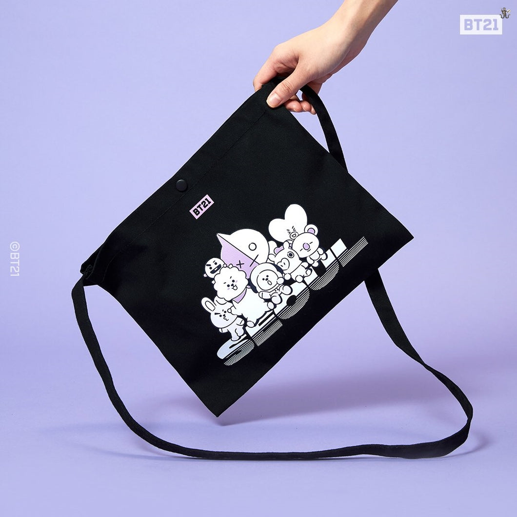 [LINE X BT21] Canvas Sacoche Bag