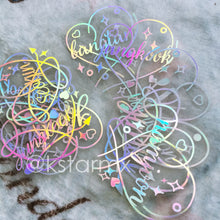 BTS Holographic Laser Sticker