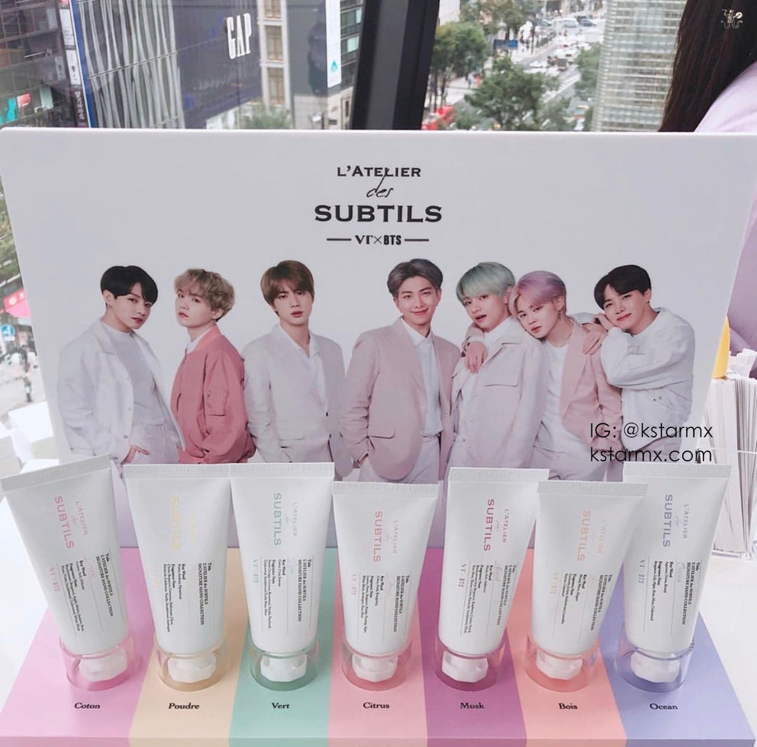 [VT COSMETICS X BTS] L'ATELIER des SUBTILS Signature Hand Cream Collection (7ea SET).