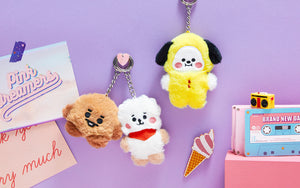 [LINE X BT21] Official BABY Flat Fur Series Standing Keyring