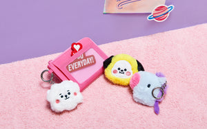 [LINE X BT21] Official BABY Flat Fur Series Face Keyring