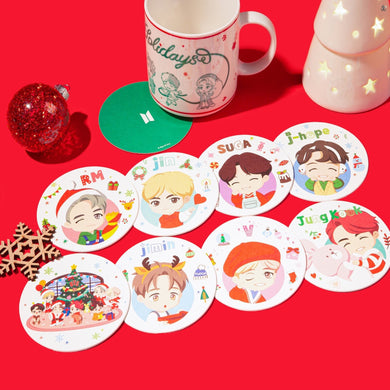 [BIG HIT] OFFICIAL HOUSE OF BTS SEOUL MD – Coaster Holiday Ver. 10ea