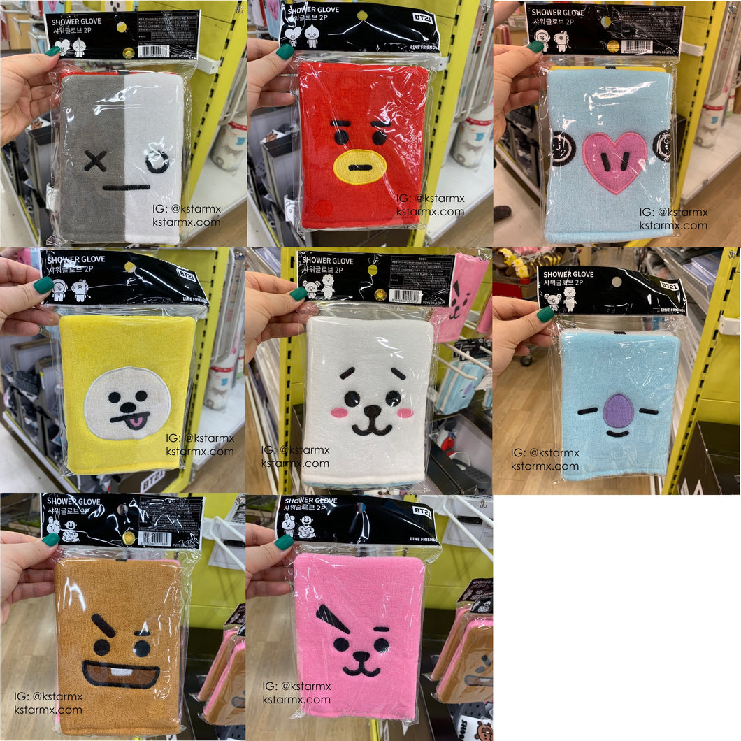 [YUYU X BT21] Shower Glove (2pcs)