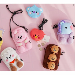 [LINE X BT21] Plush Cross Bag Baby Version