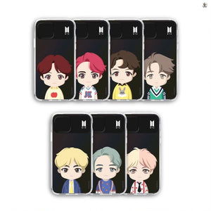 [BIG HIT] OFFICIAL CHARACTER UPPER BODY Light up Case (iPhone and Samsung)