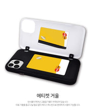 [BIG HIT] OFFICIAL CHARACTER UPPER BODY OPEN CARD Case (iPhone and Samsung)