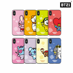 [LINE X BT21] Summer Dolce Guard Up Case (Mirror + Card) for iPhone and Samsung
