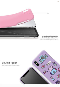 [LINE X BT21] Soft Jelly Case Roomies Series for iPhone, LG and Samsung (Free Shipping)