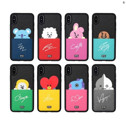[LINE X BT21] Card Pocket Bumper Case