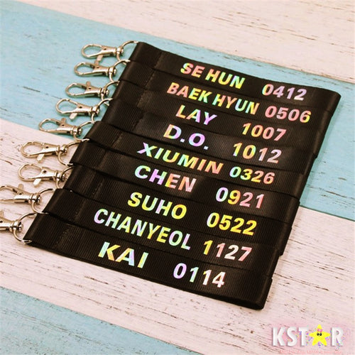EXO Holographic Member Keychain