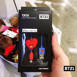 [LINE X BT21] 8pin Lightning Cable / C-TYPE (Free Shipping)