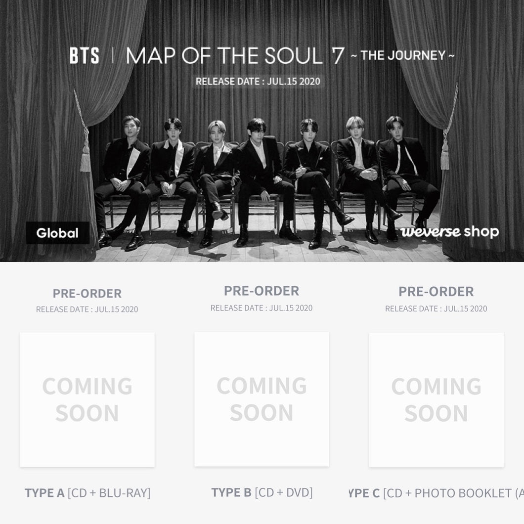 BTS MAP OF THE SOUL : 7 THE JOURNEY Japanese Album (You Can Choose Ver + Free Shipping)